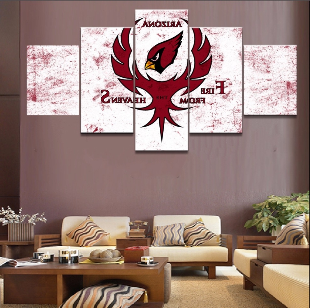 2018 Online Shop 5 Piece Canvas Art Arizona Cardinals Modern Decorative Intended For Arizona Canvas Wall Art Arizona (View 1 of 15)