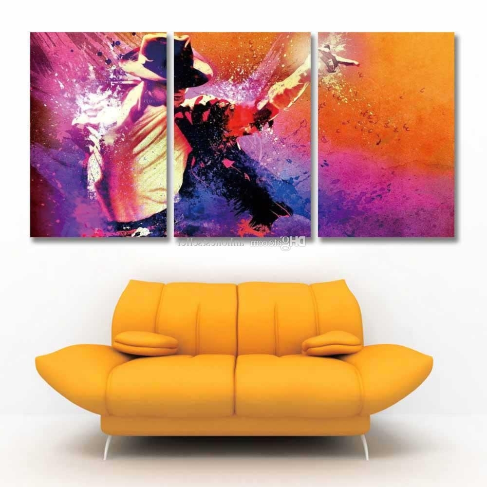 2018 Printed 3 Panel Canvas Wall Art Prints Michael Jackson In 2018 Michael Jackson Canvas Wall Art (Gallery 7 of 15)