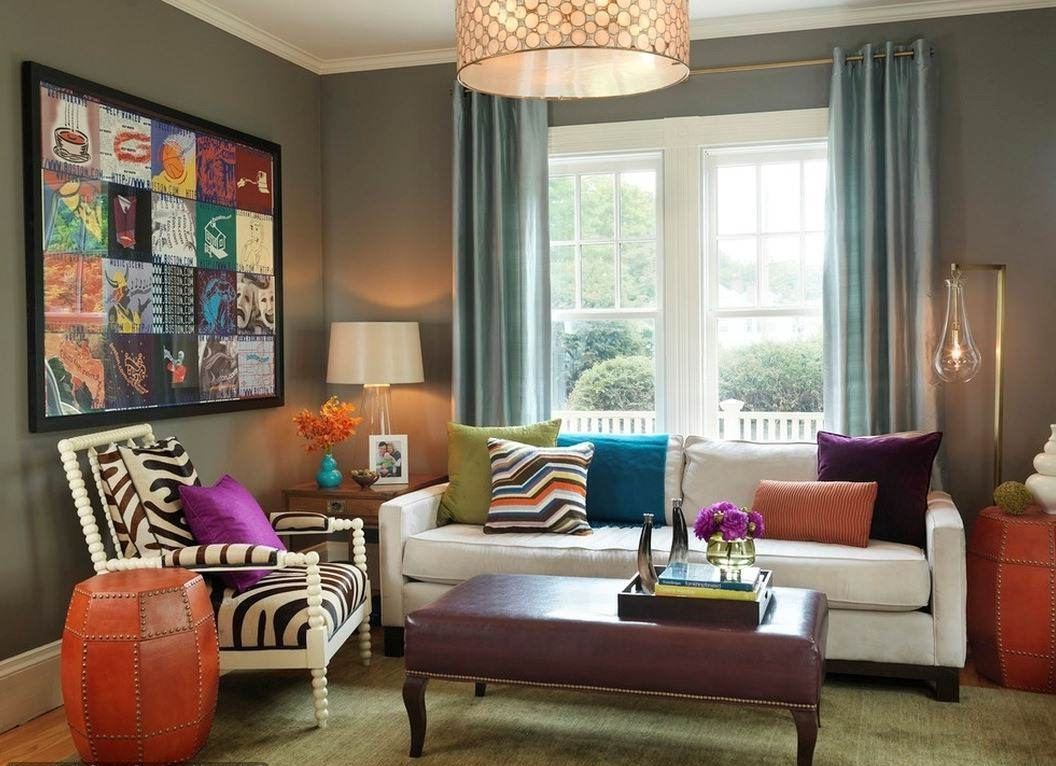 2018 Wall Accents For Grey Room Within Living Room : Curtains For Living Room With Grey Walls Decor Rooms (View 2 of 15)