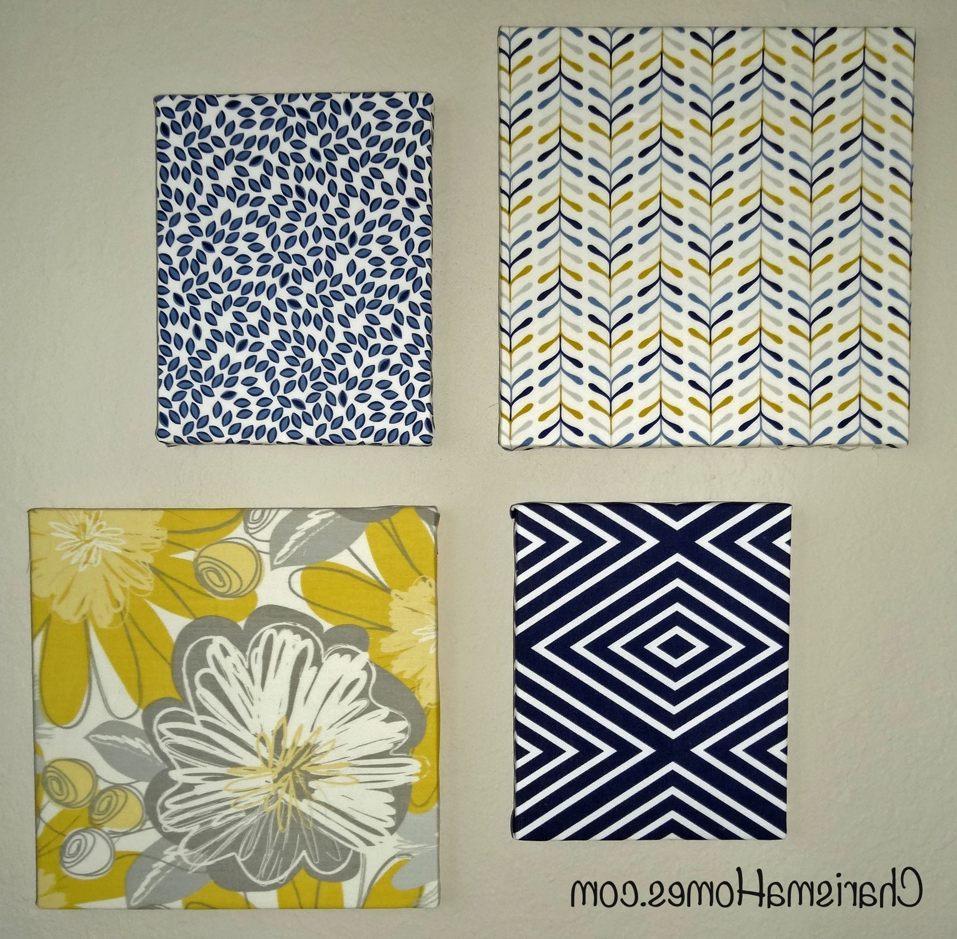 2018 Wall Art Designs: Terrific Fabric Covered Canvas Wall Art Simple With Regard To Blue Fabric Wall Art (Gallery 14 of 15)