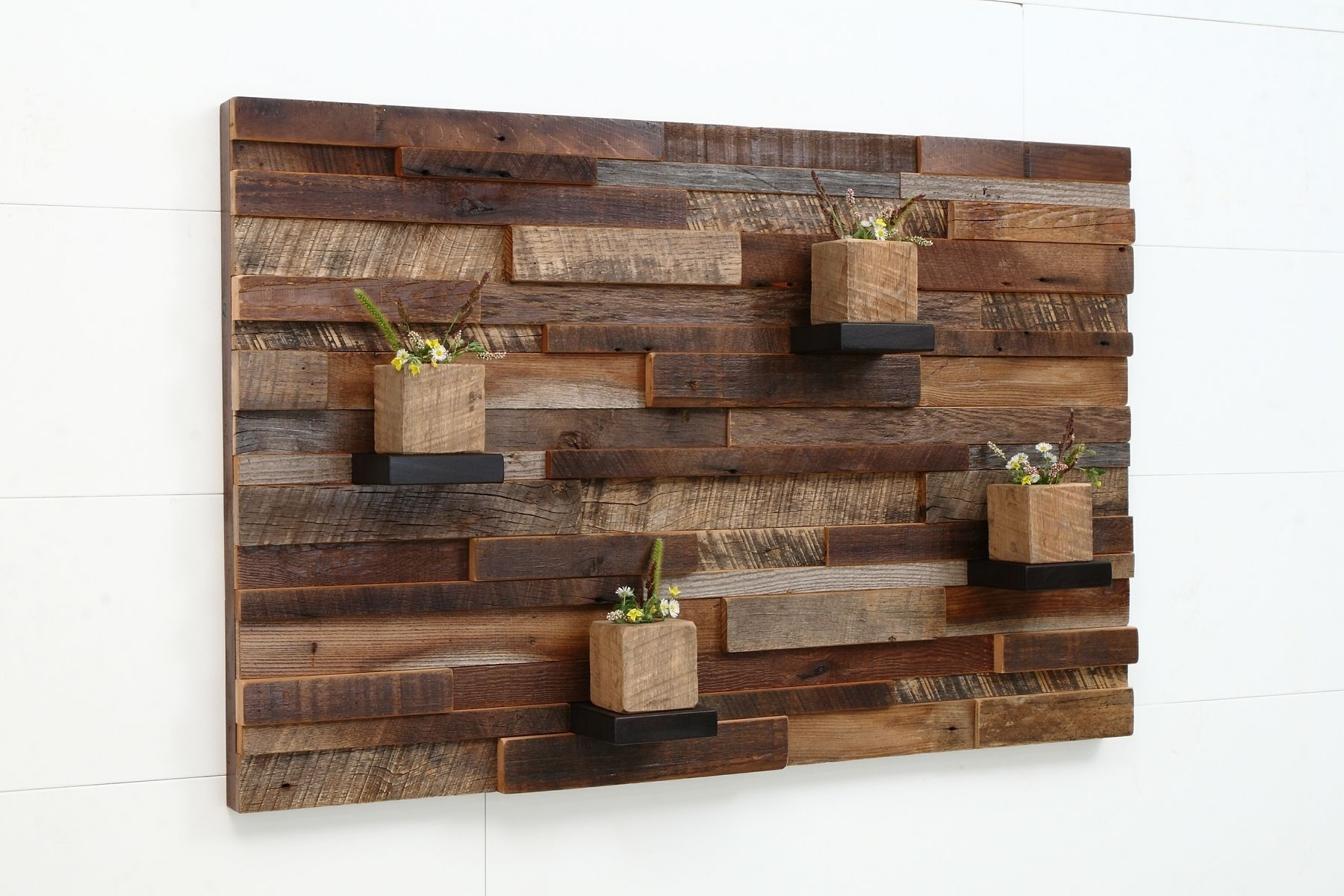 2018 Wood Pallets Wall Accents For Wall Art Designs: Distressed Wood Wall Art Custom Made Reclaimed (View 3 of 15)