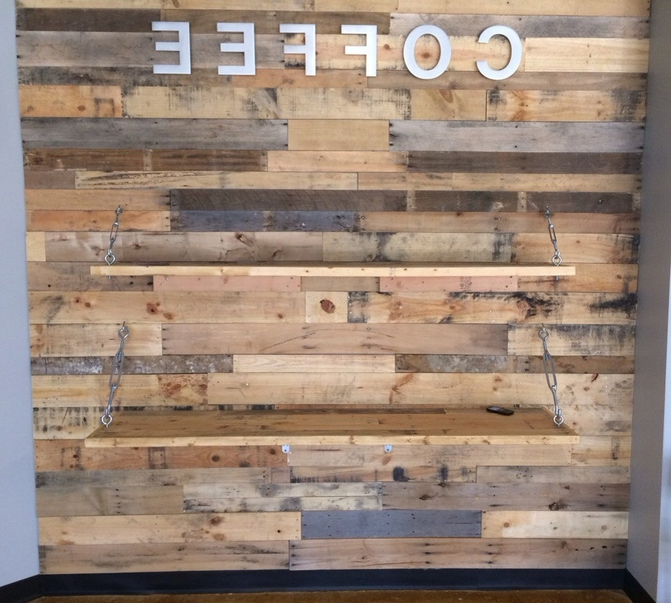 2018 Wood Wall Accent Wooden Accent Wall Living Room Decor Inside Wooden Wall Accents (Gallery 4 of 15)