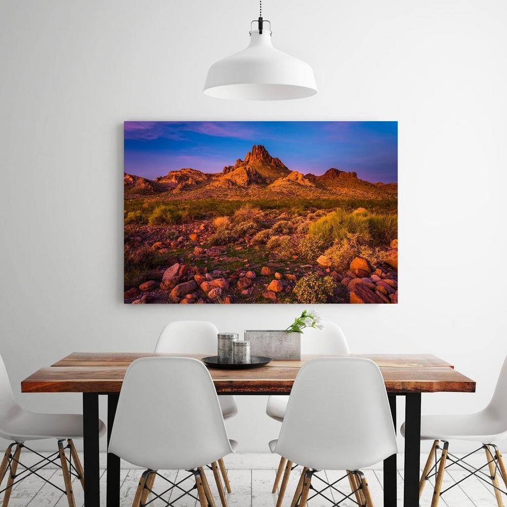 "24 In. X 36 In. ""colorful Desert Sunset In Oatman, Arizona Regarding Popular Arizona Canvas Wall Art Arizona (Gallery 6 of 15)"
