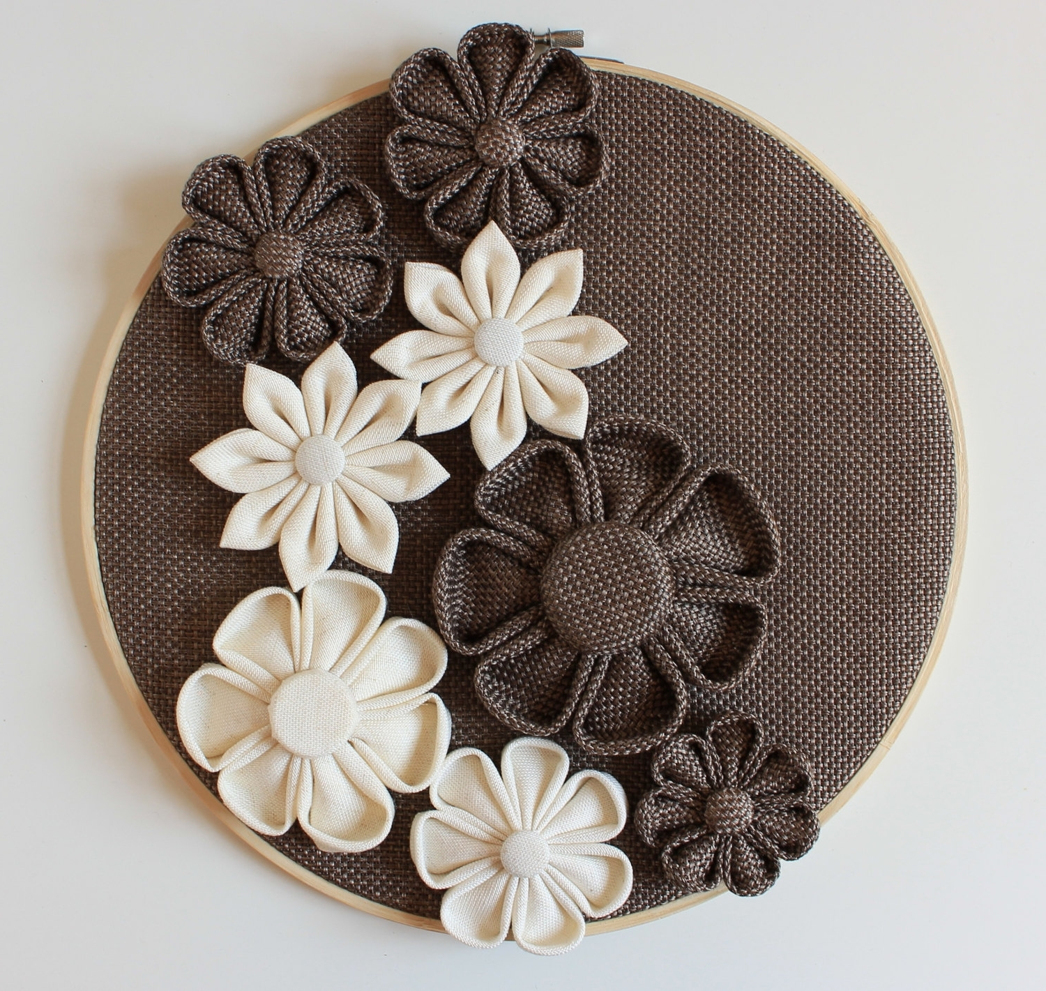 3d Wall Decor Wall Flowers Home Decor Wallneschdecoration Regarding Most Current Fabric Flower Wall Art (View 10 of 15)