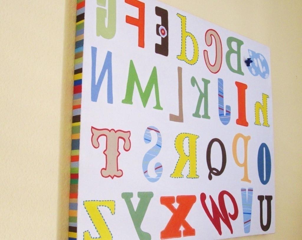 40 Extraordinary Ideas Alphabet Wall Art (View 2 of 15)