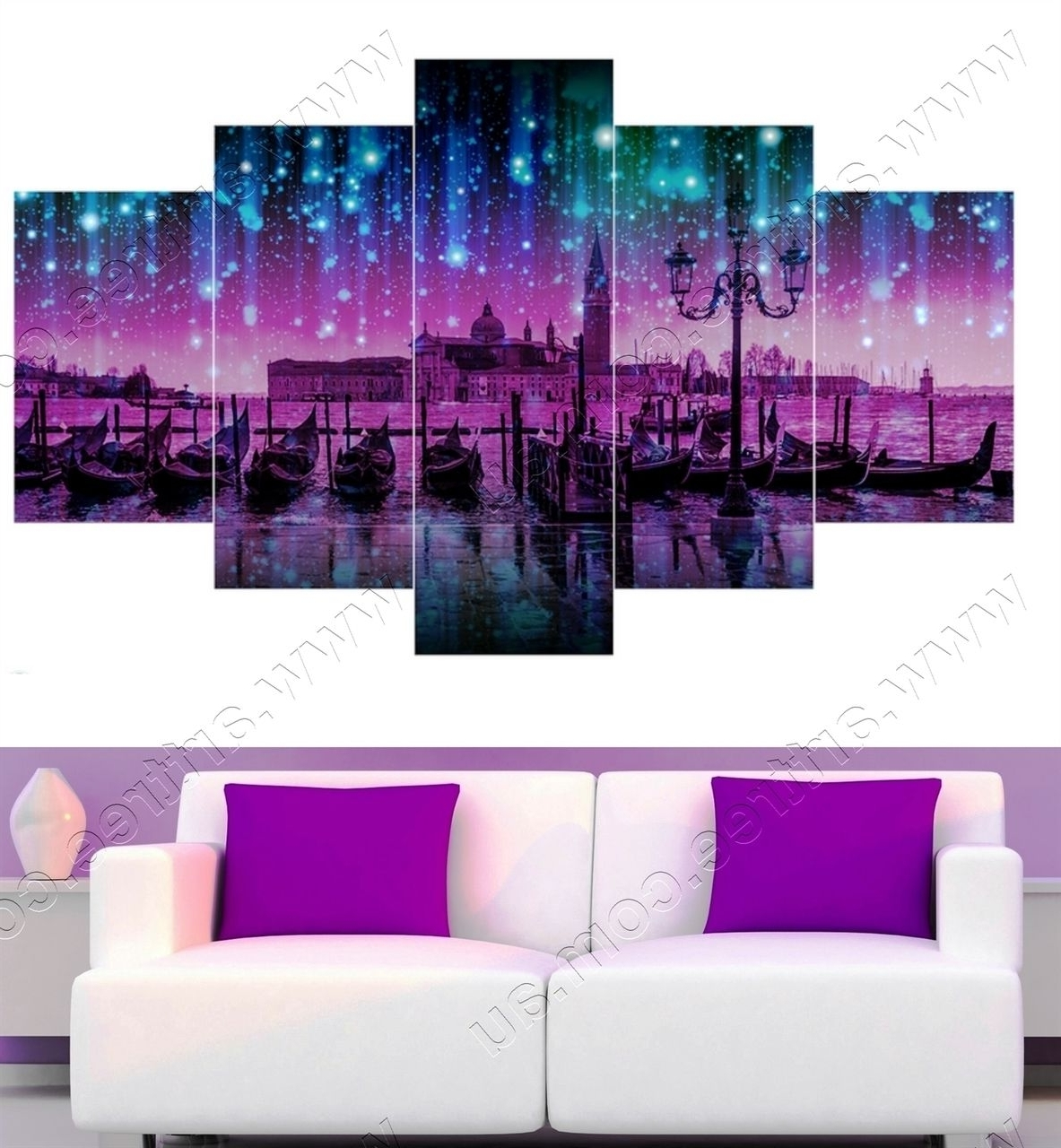 5 Piece Canvas Print In Canvas Wall Art Of Perth (Gallery 10 of 15)