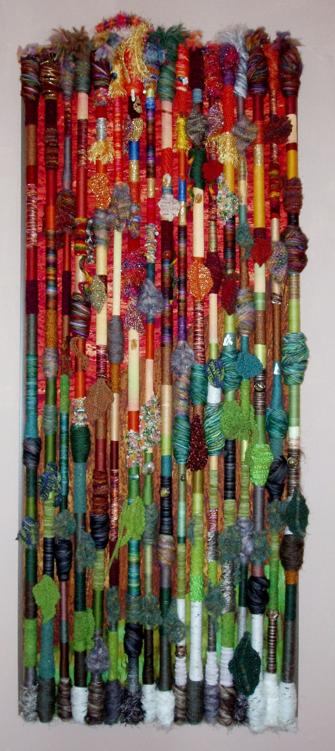 Abstract Textile Wall Art Inside Most Recently Released Fiber Art Wall Hanging – Fall In The Northland (View 4 of 15)