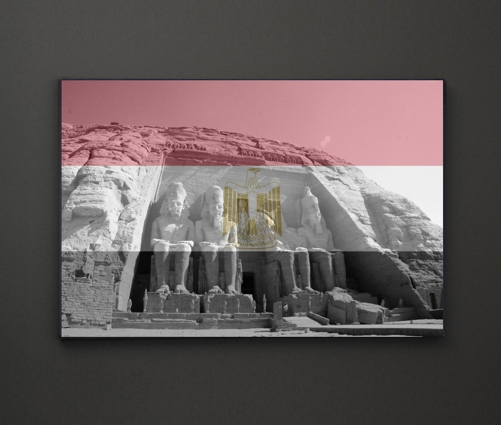 Abu Simbel Egypt Flag A4 Framed/box Canvas A4 A3 A2 A1 Gift Ideas Within Favorite Leadgate Canvas Wall Art (View 4 of 15)