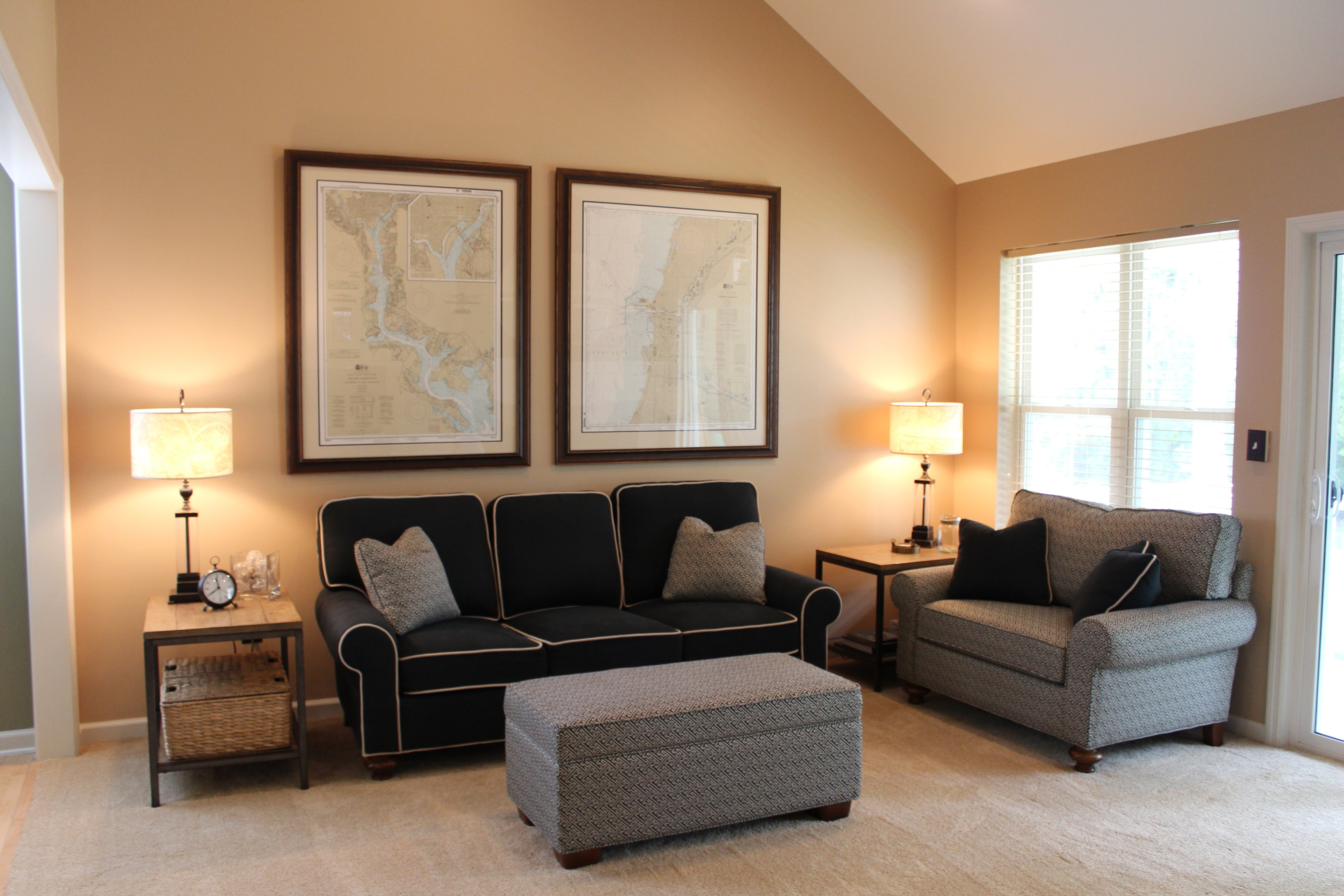 Accent Wall With Brown Furniture Showing Black Wooden Picture For Favorite Brown Furniture Wall Accents (View 8 of 15)