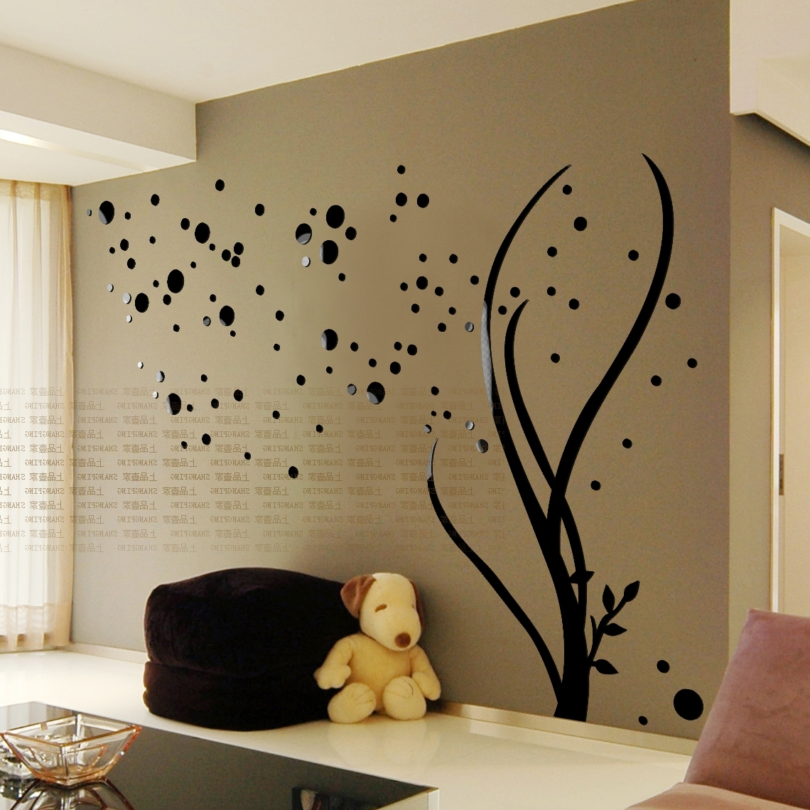 Adhesive Art Wall Accents In Latest Free Shipping 3D Stars Crystal Three Dimensional Wall Stickers (View 3 of 15)