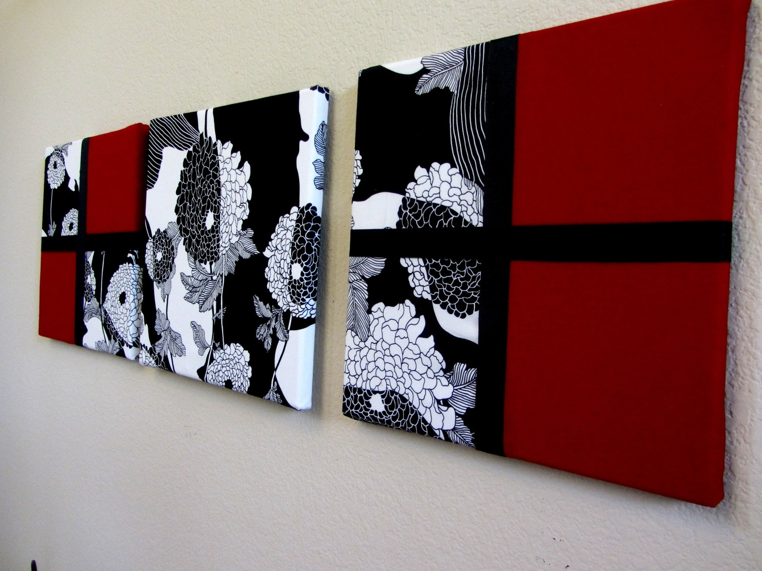 Admirable Wall Art Oversized Abstract Wall Art Black For Scenario In Trendy Red Fabric Wall Art (Gallery 5 of 15)