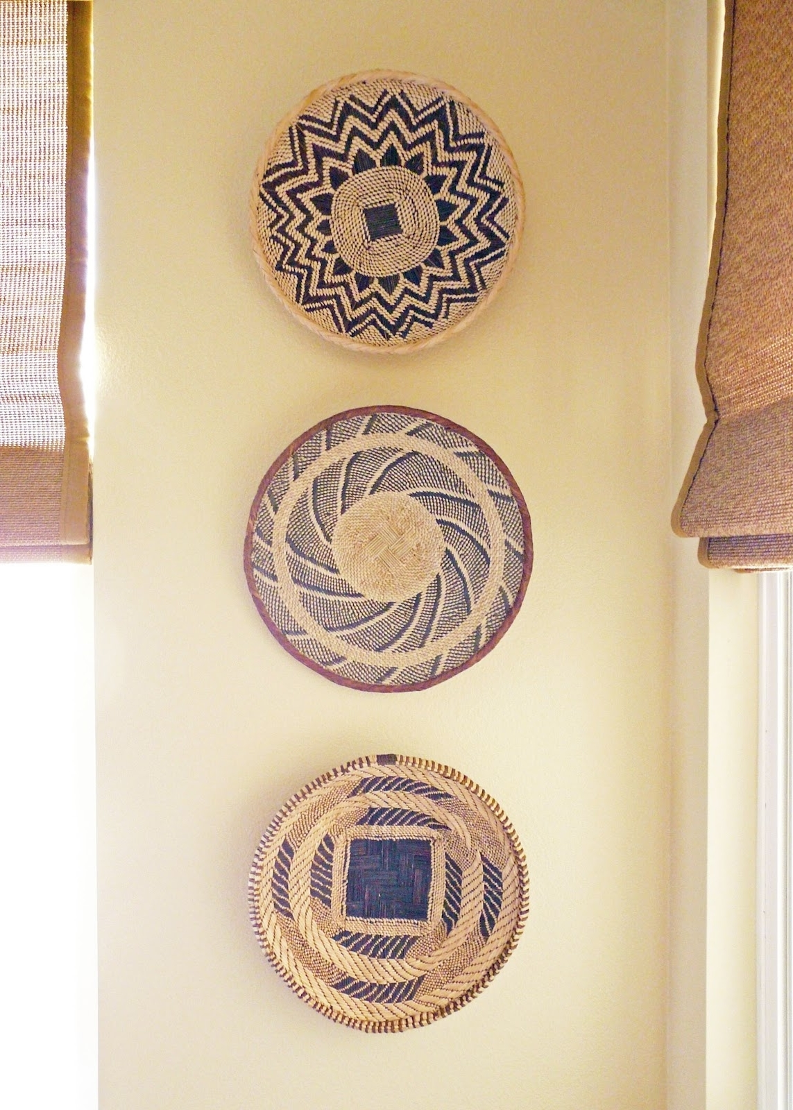 African Wall Accents Within Famous Wall Decor: Good Look Baskets As Wall Decor Woven Wall Baskets (View 2 of 15)