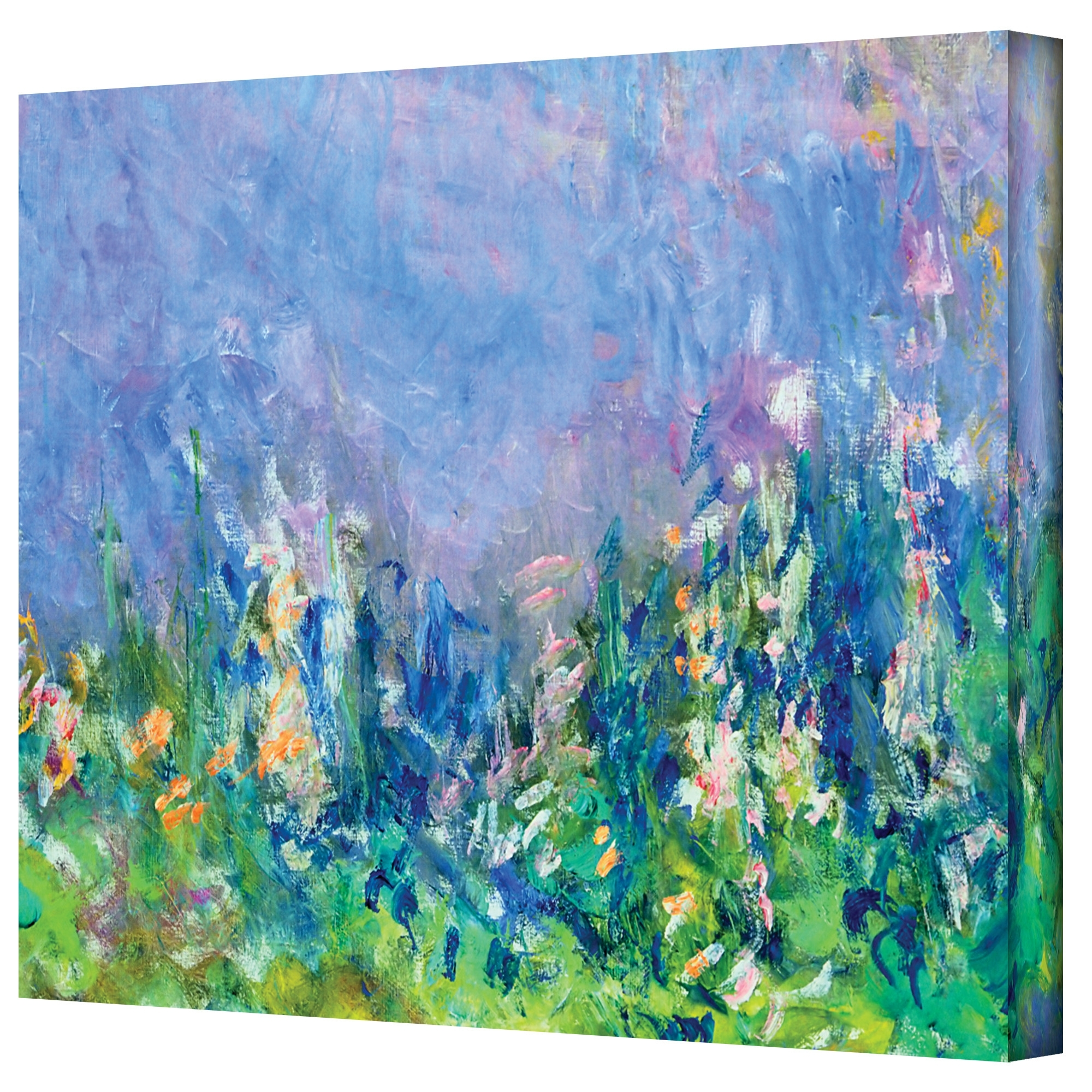 "Alcott Hill ""lavender Fields""claude Monet Painting Print On For Most Current Monet Canvas Wall Art (View 2 of 15)"