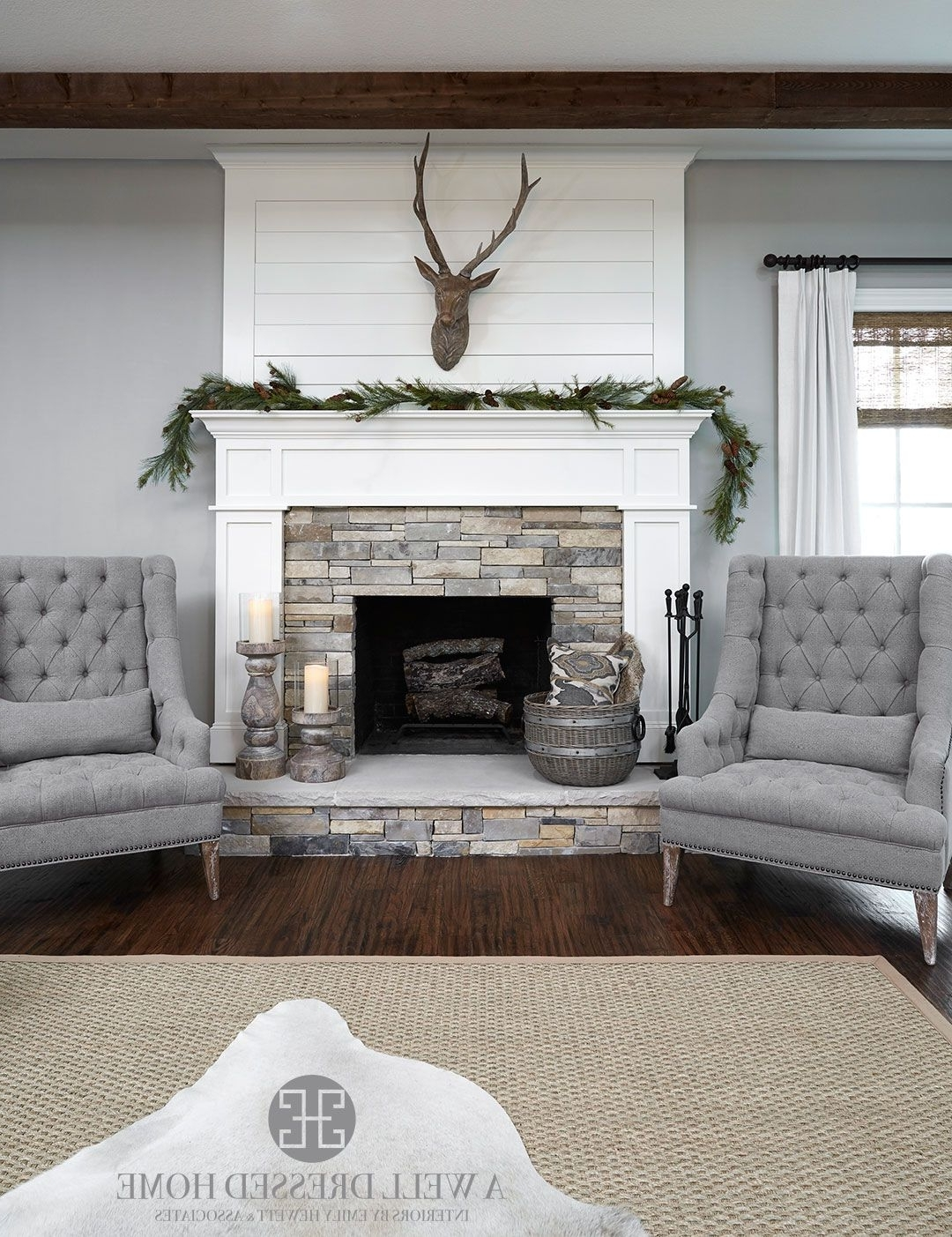 Aledo Project – Tv Room @ A Well Dressed Home – Shiplap Fireplace In Popular Wall Accents Over Fireplace (Gallery 9 of 15)