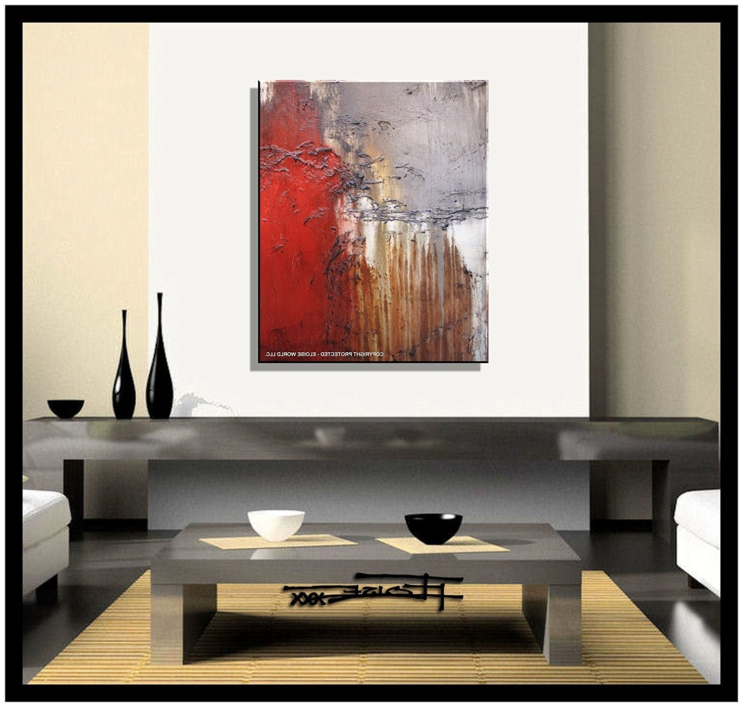 Amazon: Abstract Canvas Painting, Modern Wall Art, Limited With Well Liked Modern Canvas Wall Art (View 3 of 15)