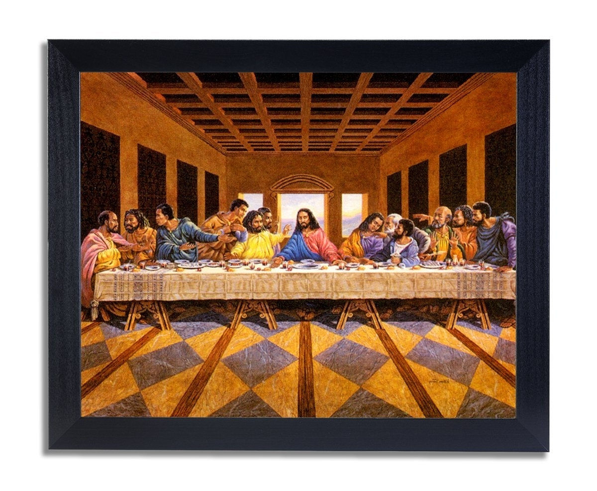 Amazon: African American Black The Last Supper Jesus Christ Throughout 2017 Framed African American Art Prints (View 5 of 15)