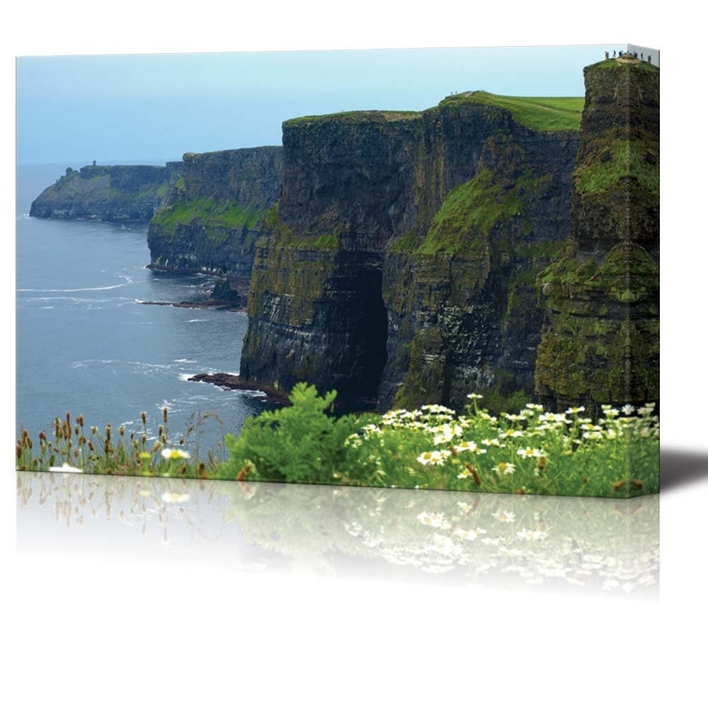 Amazon: Canvas Prints Wall Art – Famous Cliffs Of Moher, Sunet Pertaining To Trendy Ireland Canvas Wall Art (View 4 of 15)
