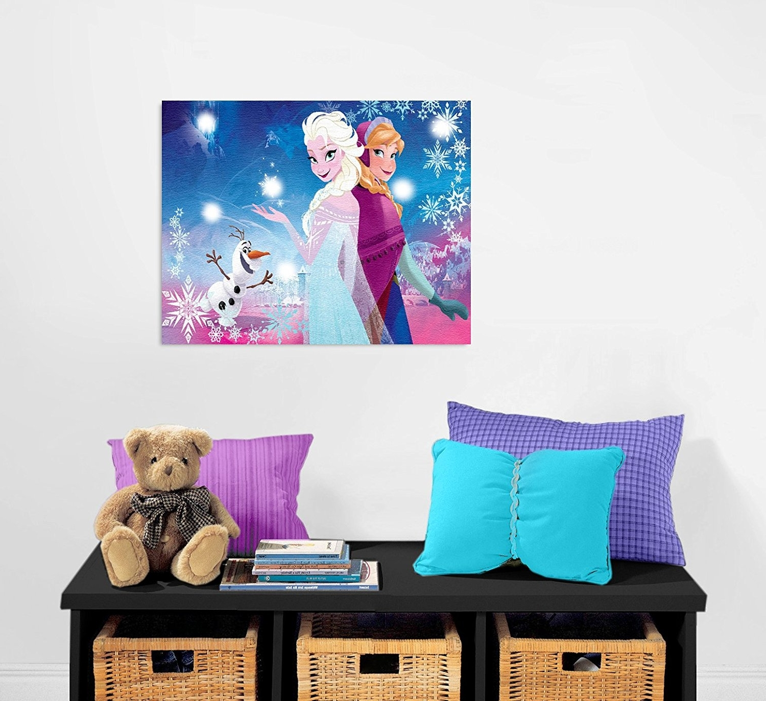 Amazon: Disney Frozen Canvas Led Wall Art: Toys & Games Inside Recent Elsa Canvas Wall Art (View 1 of 15)