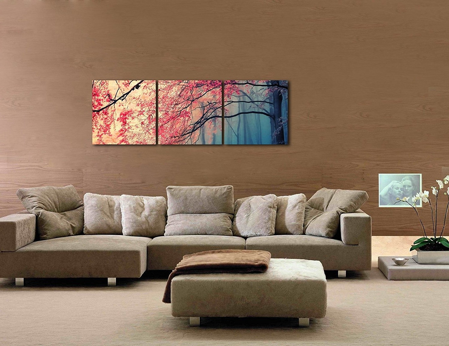 Amazon: Gardenia Art – Red Maples Canvas Prints Wall Art With Regard To Famous Living Room Canvas Wall Art (View 3 of 15)