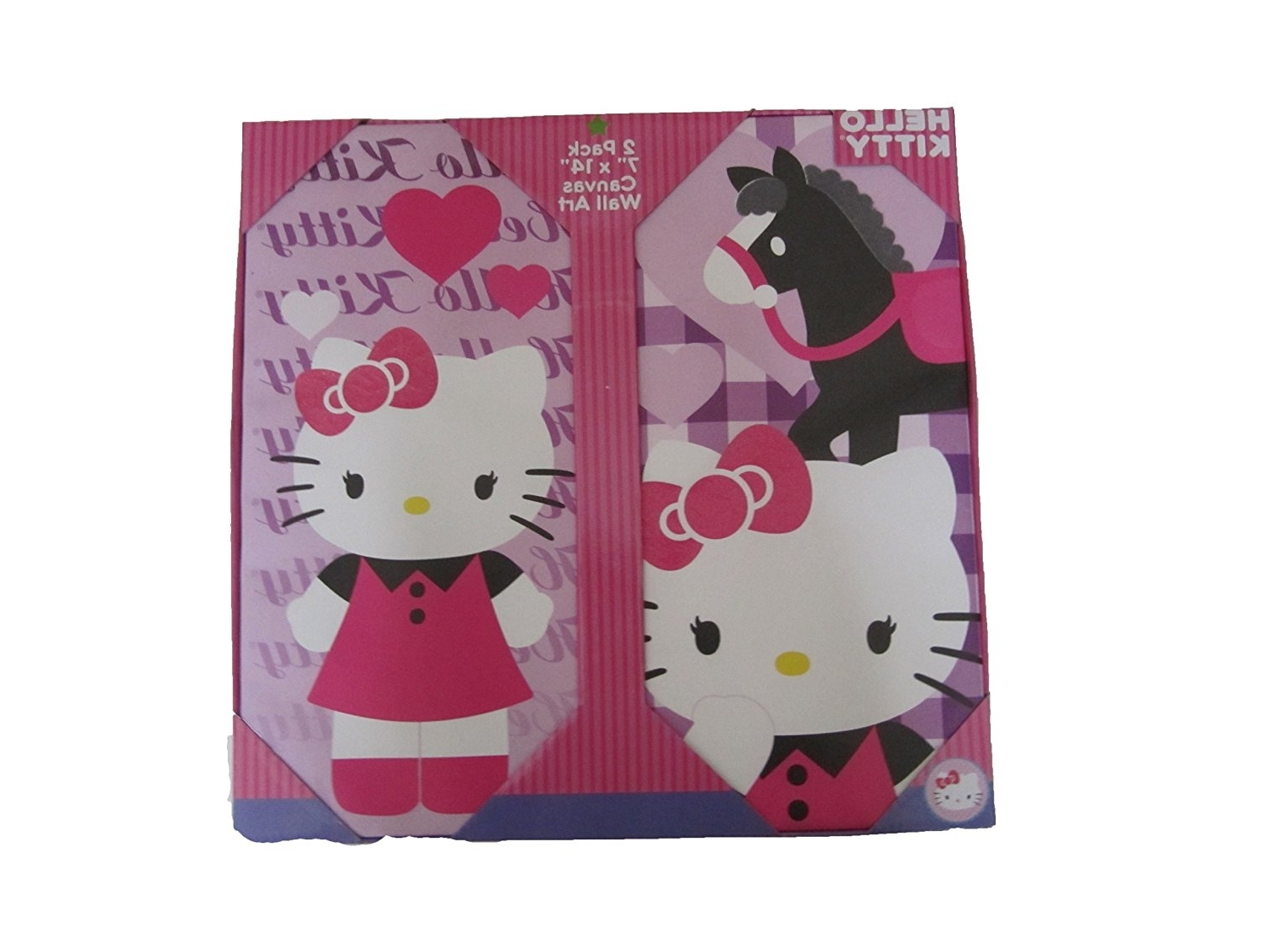 "Amazon: Hello Kitty Canvas Wall Art 2 Pack ( 7 "" X 14 Intended For Well Liked Hello Kitty Canvas Wall Art (Gallery 6 of 15)"