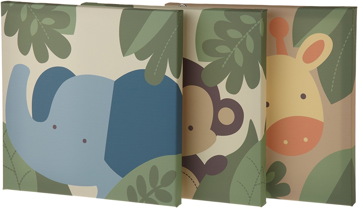 Amazon: Kids Line Jungle 123 Canvas Wall Art 3 Piece, Brown Regarding Favorite Kidsline Canvas Wall Art (Gallery 9 of 15)