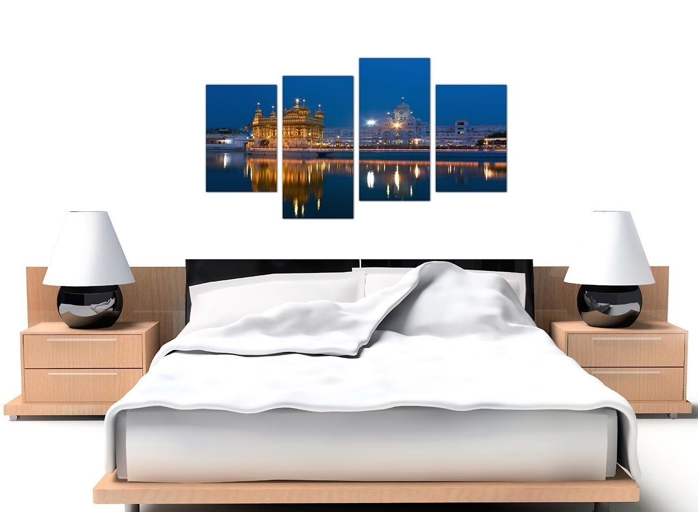 Amazon: Large Sikh Canvas Wall Art Pictures Of The Golden Intended For Popular Bedroom Canvas Wall Art (View 3 of 15)