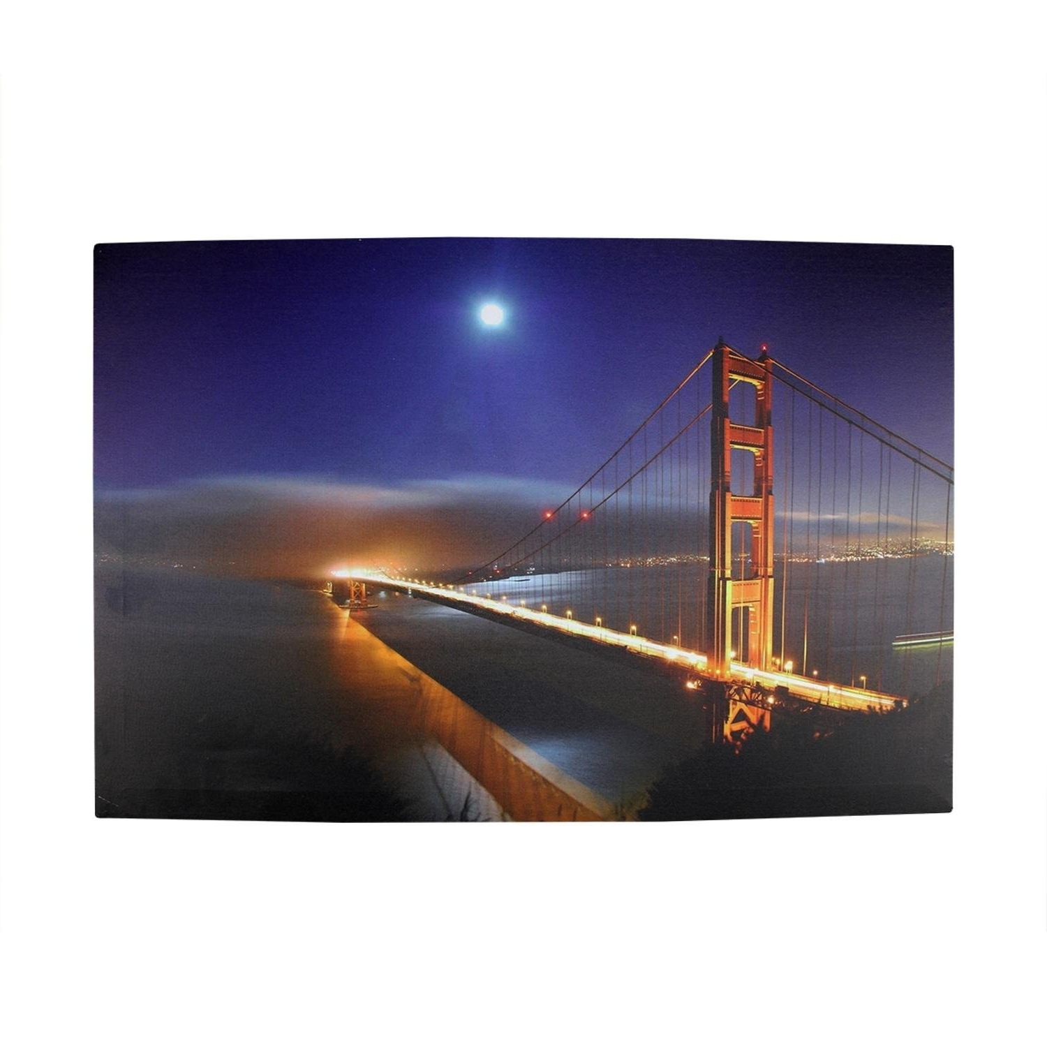 Amazon: Led Lighted Famous San Francisco Golden Gate Bridge In Fashionable Golden Gate Bridge Canvas Wall Art (Gallery 13 of 15)