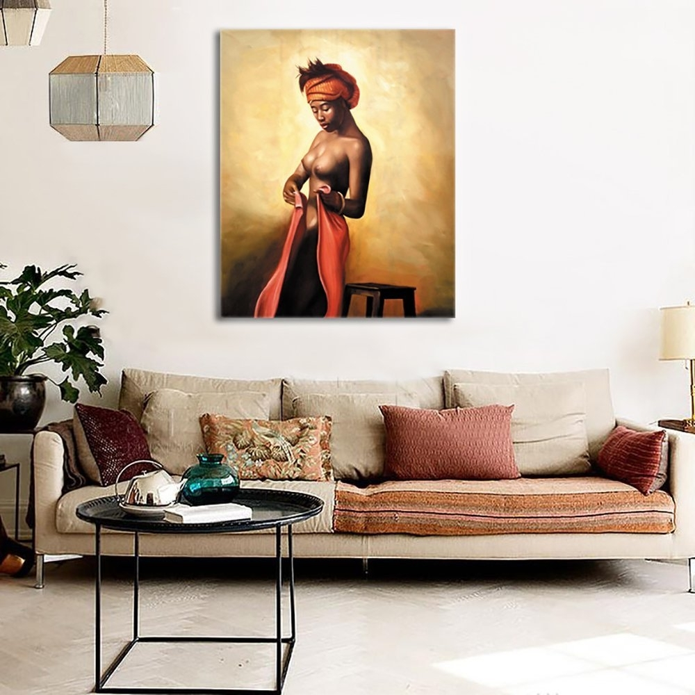 Amazon: Sexy Naked African Americans Girl Printed Painting On For 2017 Framed African American Art Prints (View 7 of 15)