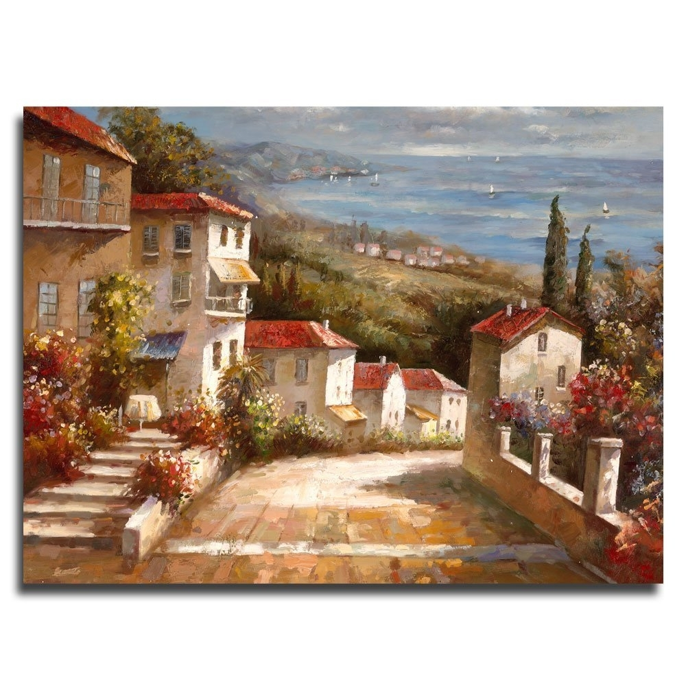 "Amazon: Trademark Art ""home In Tuscany"" Canvas Artjoval Pertaining To Popular Canvas Wall Art Of Italy (View 2 of 15)"
