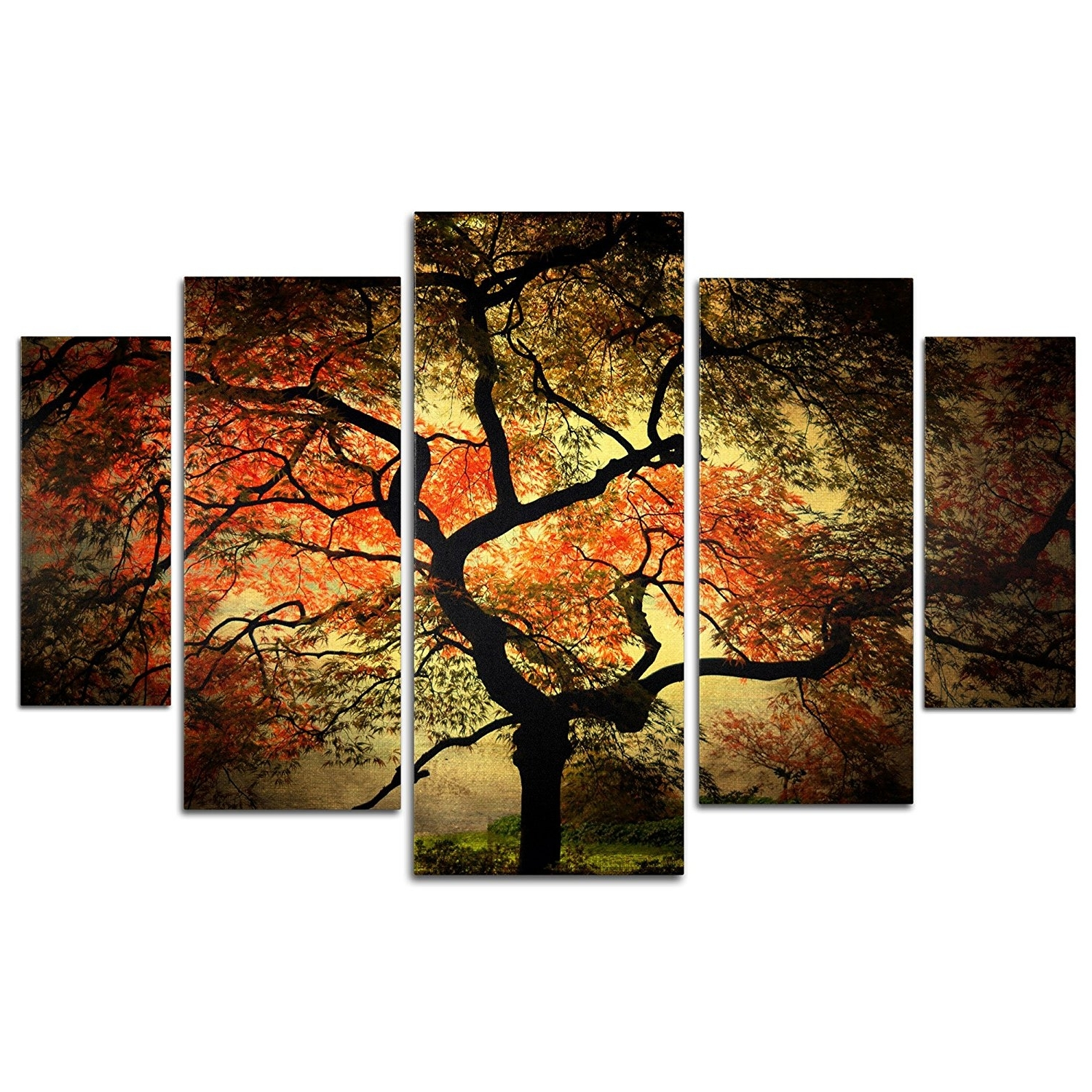 "Amazon: Trademark Fine Art ""japanese"" Multi Panel Art Set Throughout Well Known Japanese Canvas Wall Art (View 1 of 15)"