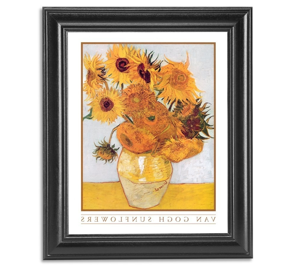 Amazon: Vincent Van Gogh Sunflowers Floral Wall Picture Framed Regarding Trendy Flowers Framed Art Prints (View 9 of 15)