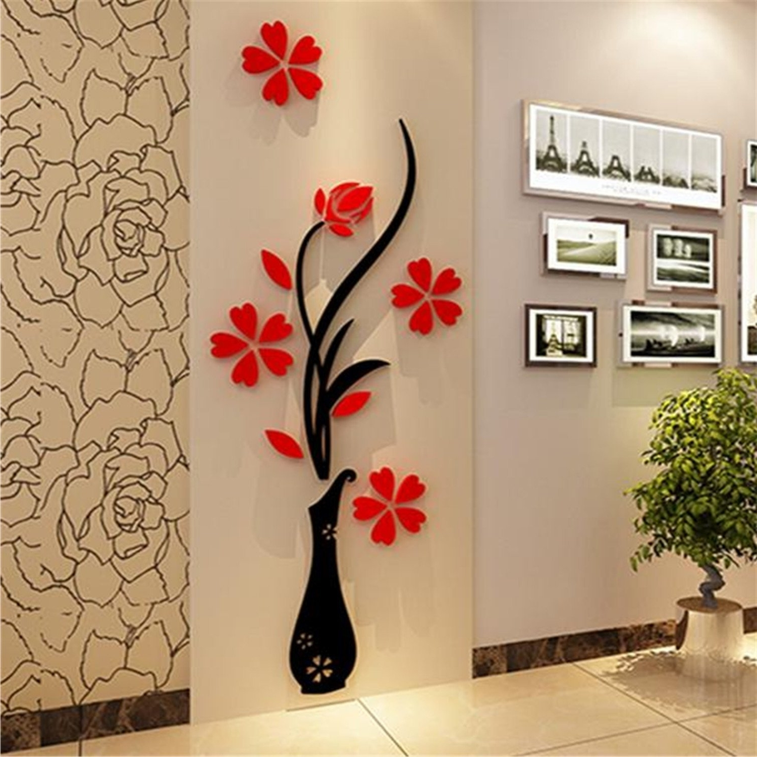 Amazon Wall Accents In Fashionable Amazon: Home Accessories 3D Wall Decoration Wall Sticker (View 1 of 15)