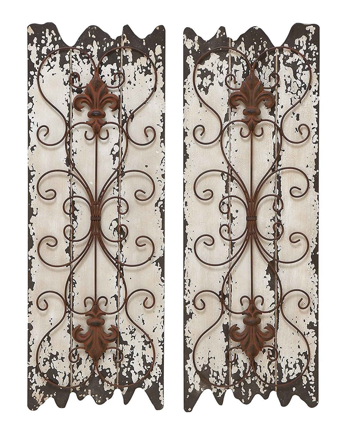 Amazon Wall Accents Throughout Well Known Amazon: Deco 79 Elegant Wall Sculpture Wood Metal Wall Decor (View 12 of 15)