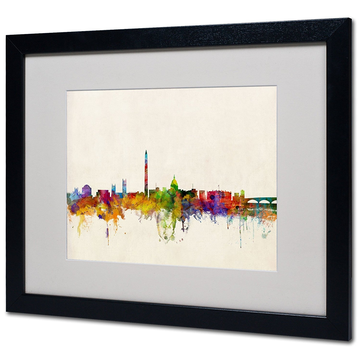 Amazon: Washington Dc Skylinemichael Tompsett, White Matte Within Most Popular Washington Dc Framed Art Prints (Gallery 2 of 15)