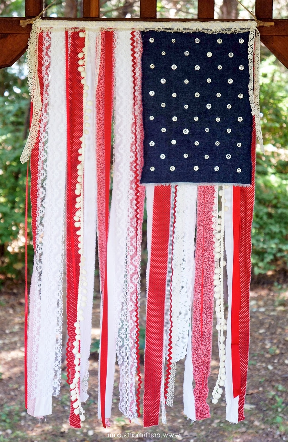 American Flag Fabric Wall Art For Preferred 4 Th Of July Crafts, Minnie Mouse And Tmnt (View 2 of 15)