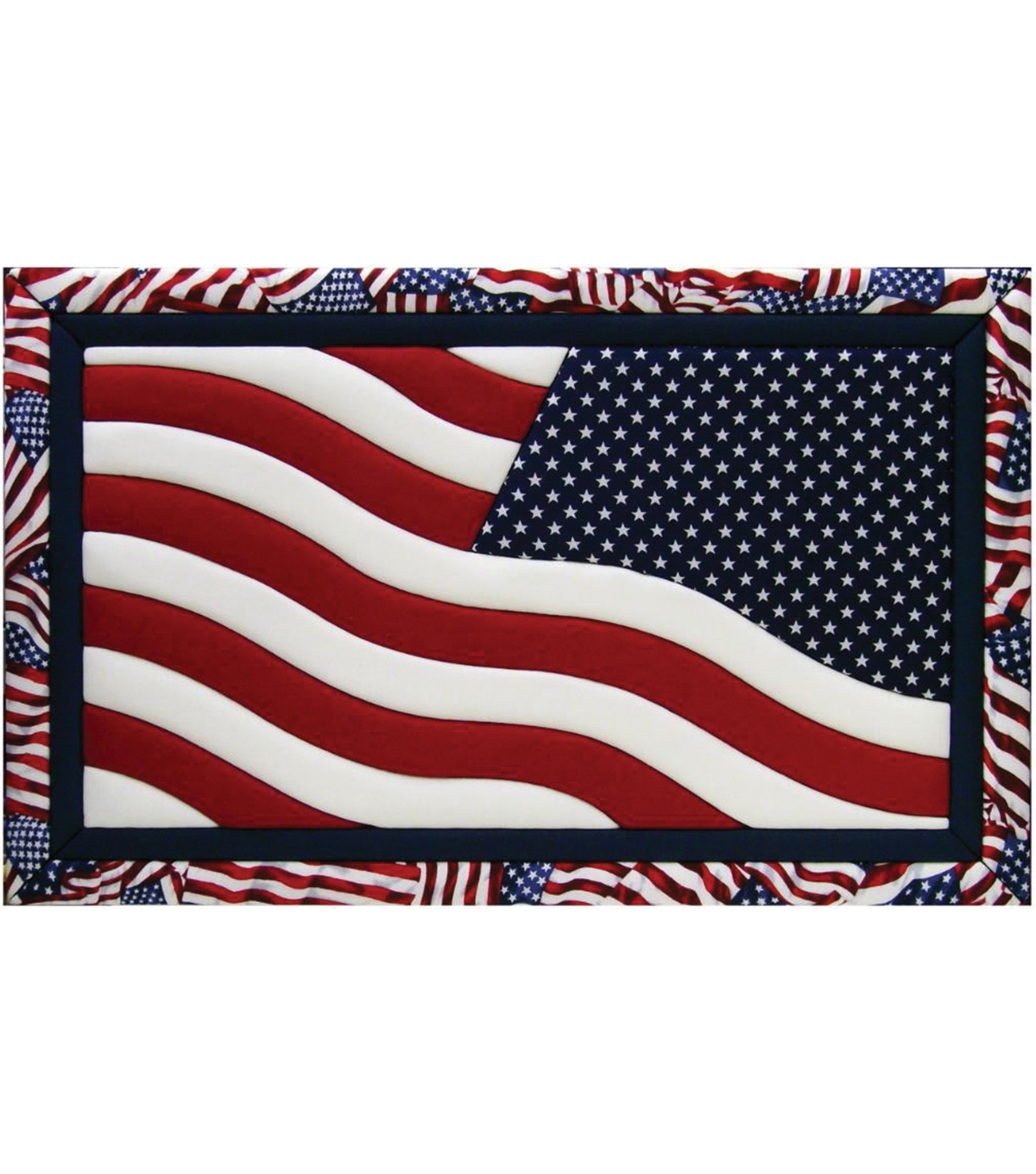 "American Flag Quilt Magic Kit 12""x19"" (Gallery 5 of 15)"