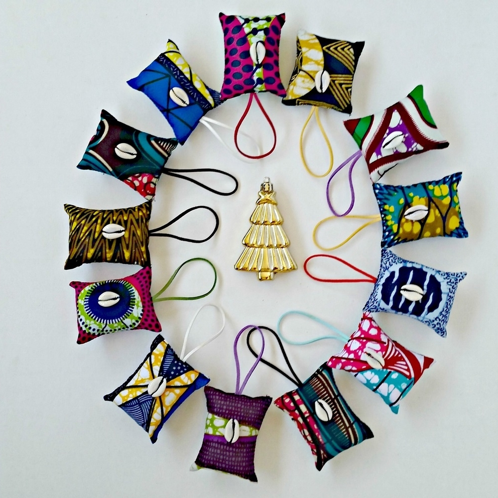 Ankara Fabric Wall Art Pertaining To Most Current Ankara/african Dutch Wax Holiday Ornaments! Shop Reflektiondesign (View 7 of 15)