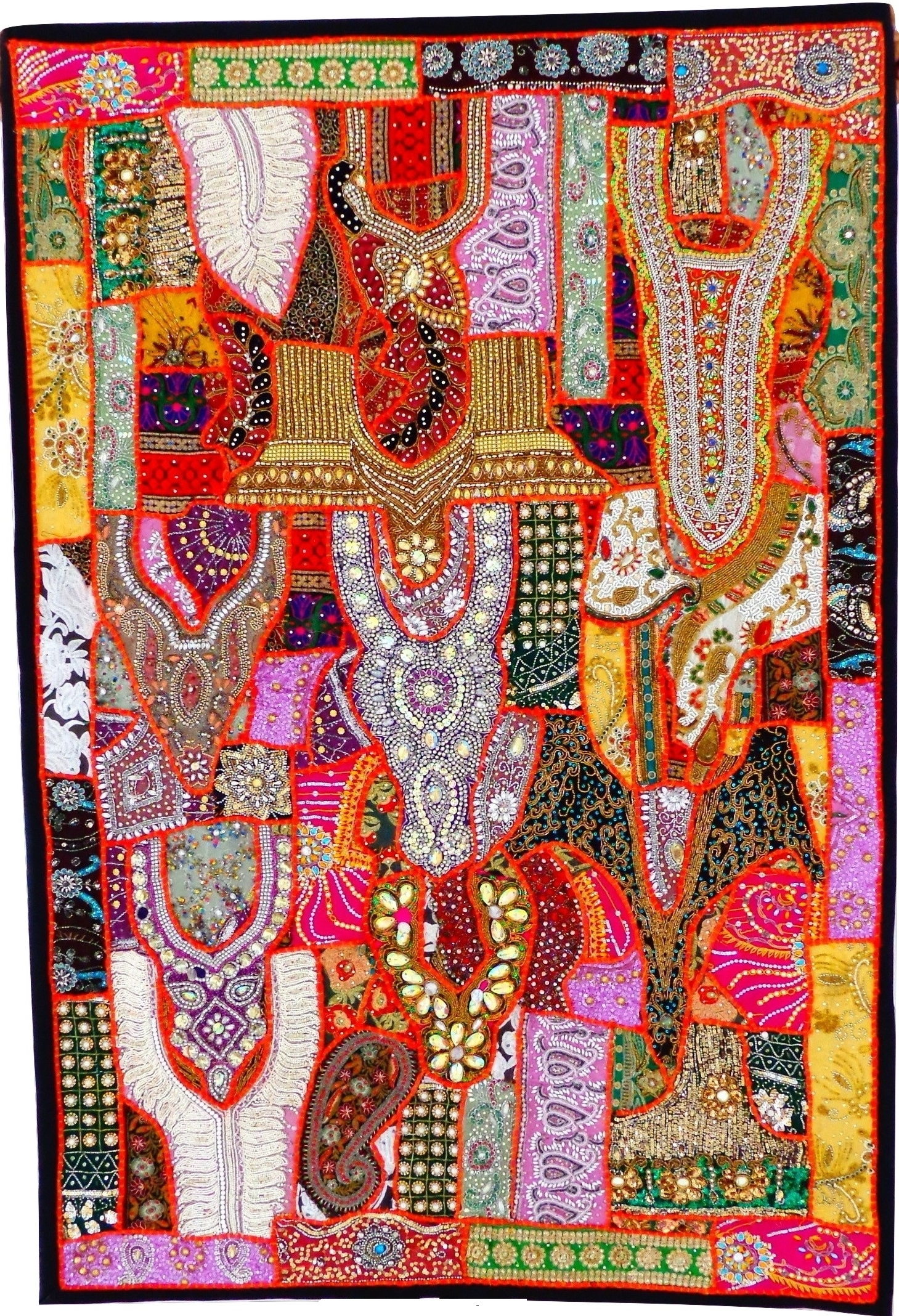 Antique Banjara Patchwork Tapestry Indian Gujarati Home Decor Wall With Regard To Well Known Handmade Textile Wall Art (Gallery 11 of 15)
