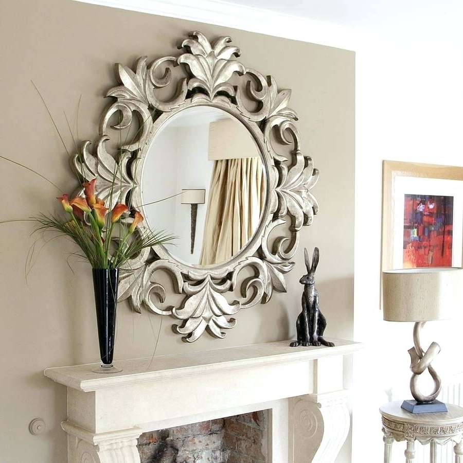 Antique Mirror Walls Round Wall Decorative Mirrors Framed Ideas Inside Most Up To Date Mirrors Wall Accents (View 6 of 15)