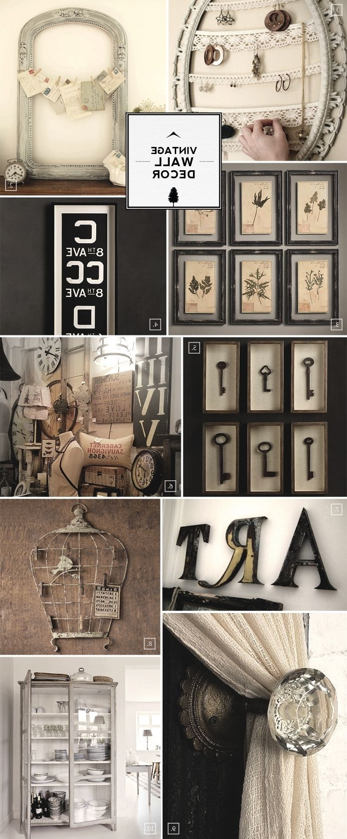 Antique Wall Accents With Regard To Best And Newest Best 25 Vintage Walls Ideas On Pinterest For Wall Decor Ideas (View 11 of 15)