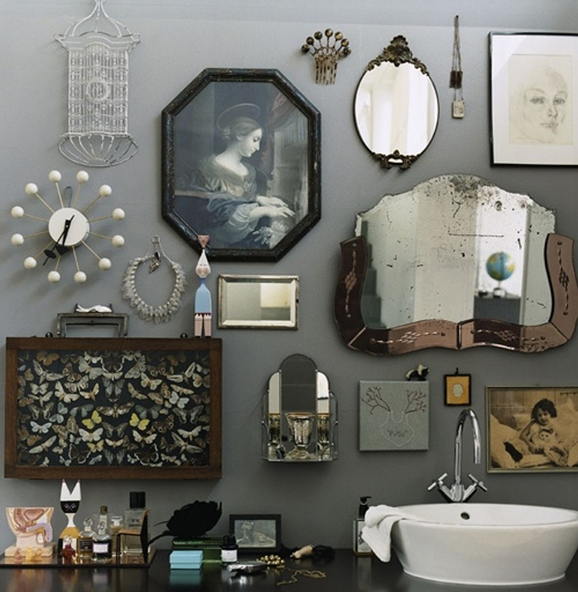 Antique Wall Accents Within Most Popular Charming Bathroom Wall Decor Inspirations — The Home Redesign (View 1 of 15)