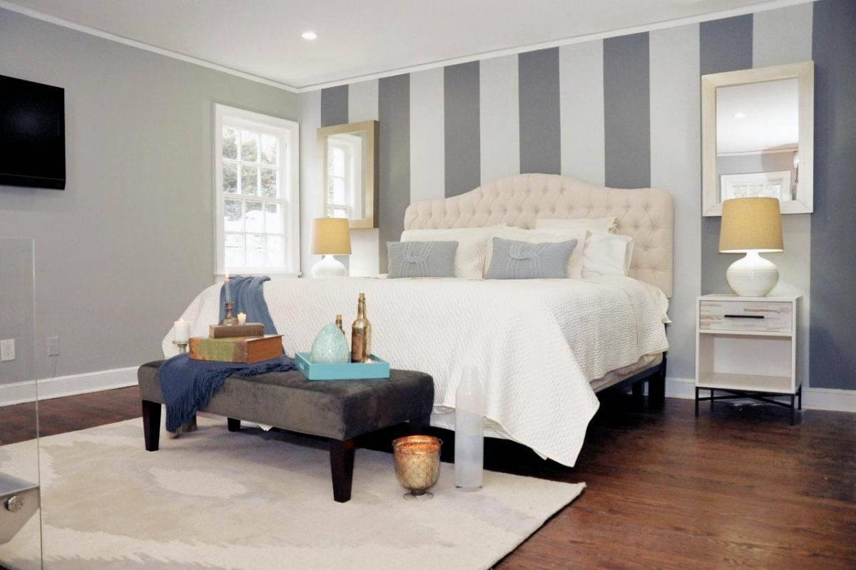 Applying The Hassle Free Yet Stunning Bedroom Accent Wall In Well Known Vertical Stripes Wall Accents (View 2 of 15)