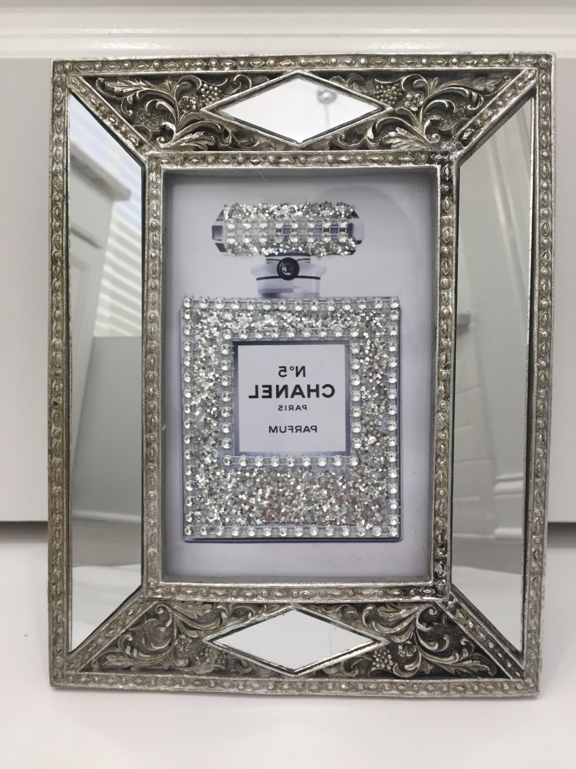 Art Deco Style Glass Framed Chanel No (View 5 of 15)