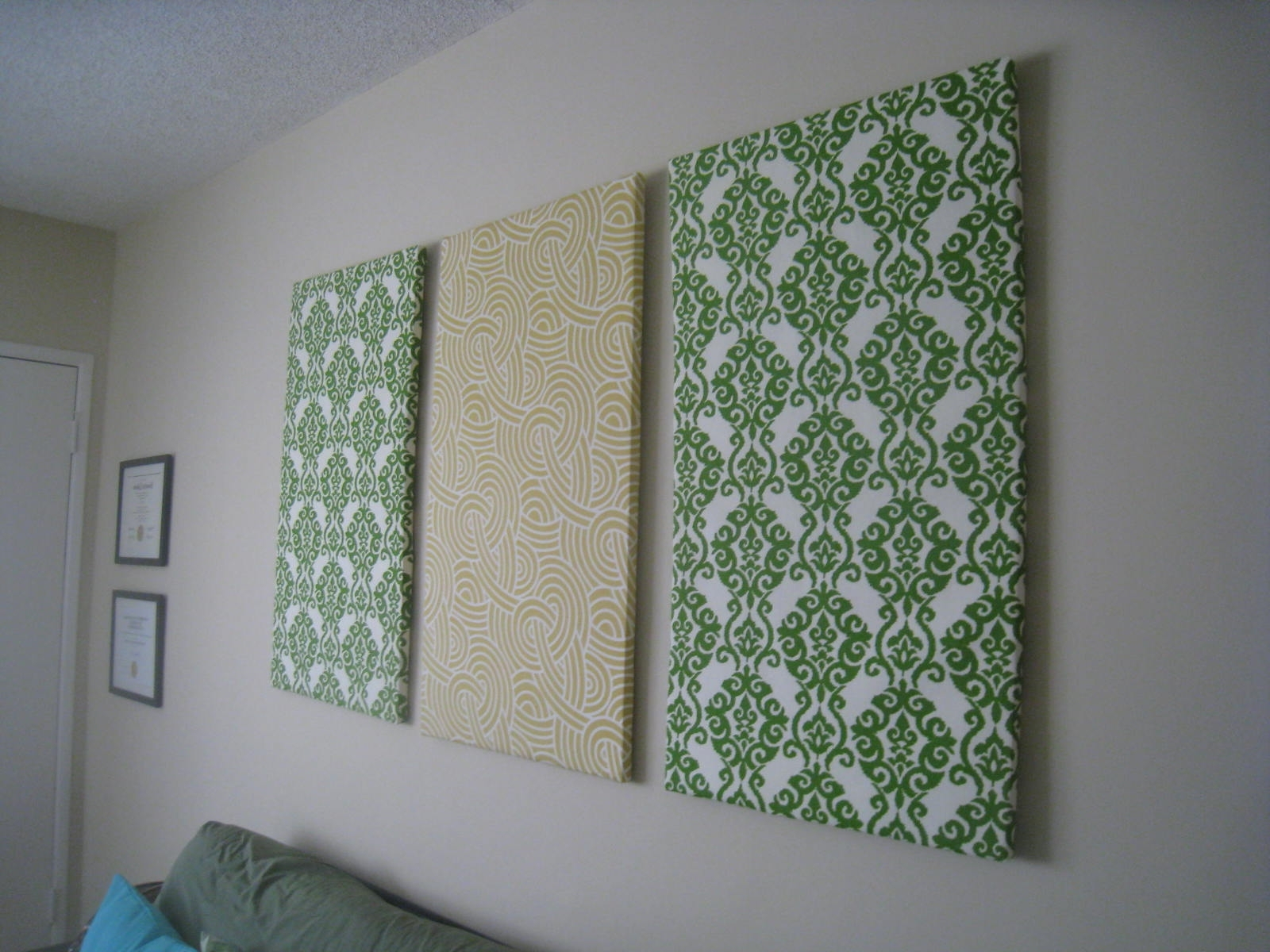 Art: Diy Fabric Wall Art Within Trendy Diy Fabric Wall Art Panels (View 2 of 15)