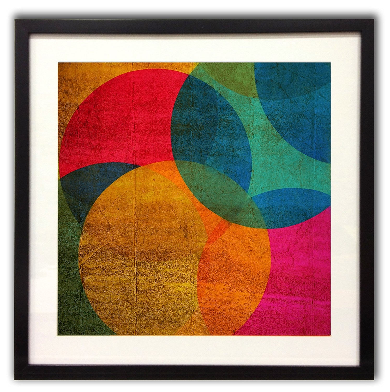 Art For Home Neon Circle Multi Colour Abrstract Framed Wall Art For Famous House Of Fraser Canvas Wall Art (View 1 of 15)