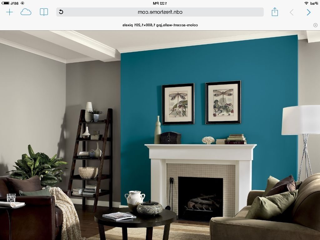 Awesome Accent Wall Ideas For Bedroom, Living Room, Bathroom And In Most Up To Date Gray Wall Accents (View 1 of 15)