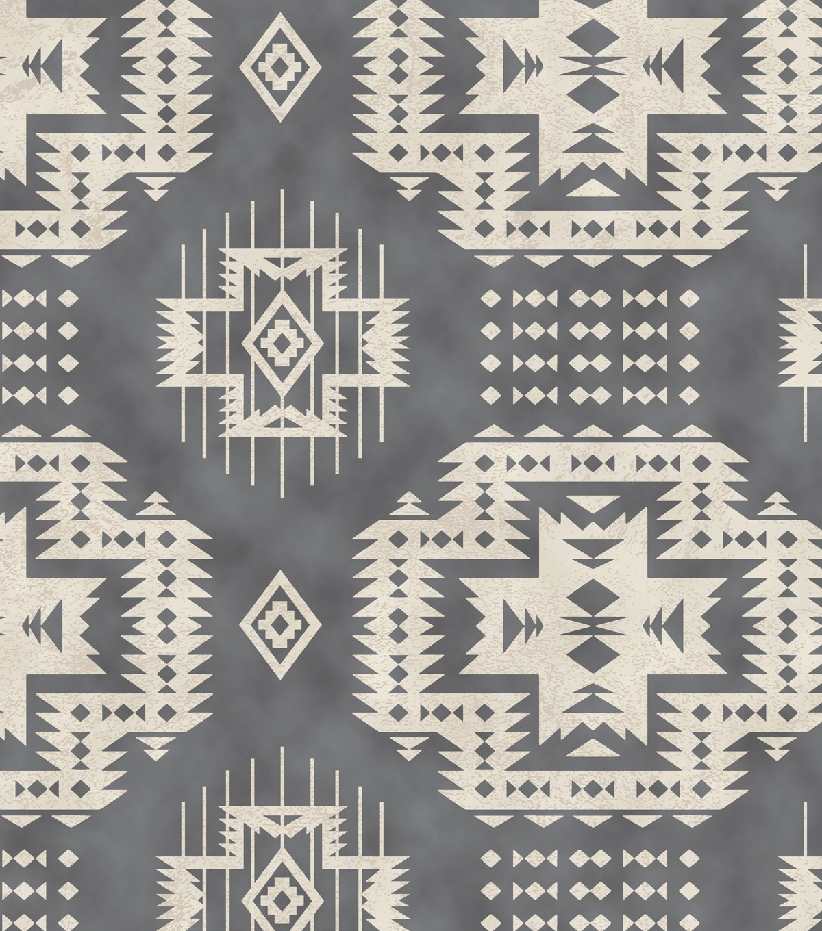 Aztec Fabric Wall Art Pertaining To Recent Snuggle Flannel Fabric Grey Aztec (View 2 of 15)