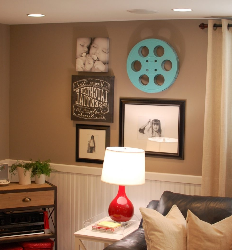 Basement Living Rooms Decorating Ideas Together With Ideas Intended For Well Liked Basement Wall Accents (View 2 of 15)