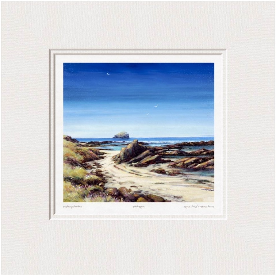 Bass Framed Art Prints For 2017 John Bathgate – Bass Rock From The Beach – Limited Edition Giclee (Gallery 4 of 15)