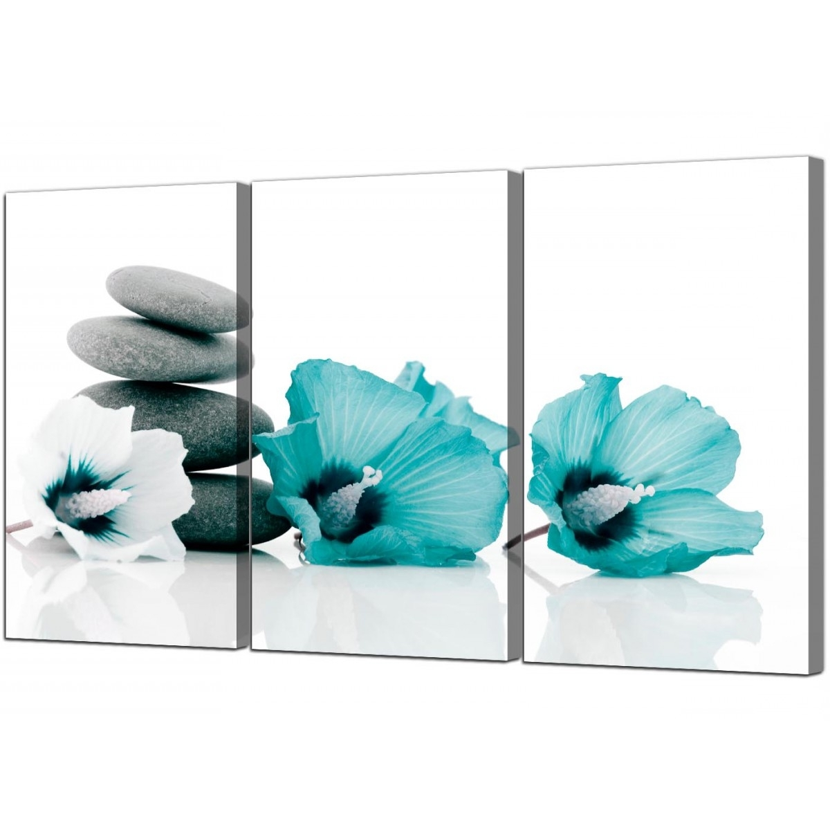 Bathroom Canvas Wall Art Within Best And Newest Flowers Canvas Prints Set Of 3 For Your Bathroom (View 5 of 15)